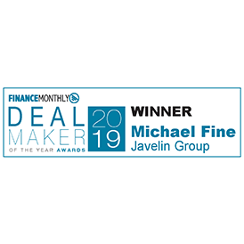 Javelin Group, part of Accenture Strategy, wins 'Deal Maker of the Year' in the Finance Monthly Deal Maker Awards 2019.