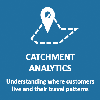 Catchment Analytics: Understanding where customers live and their travel patterns